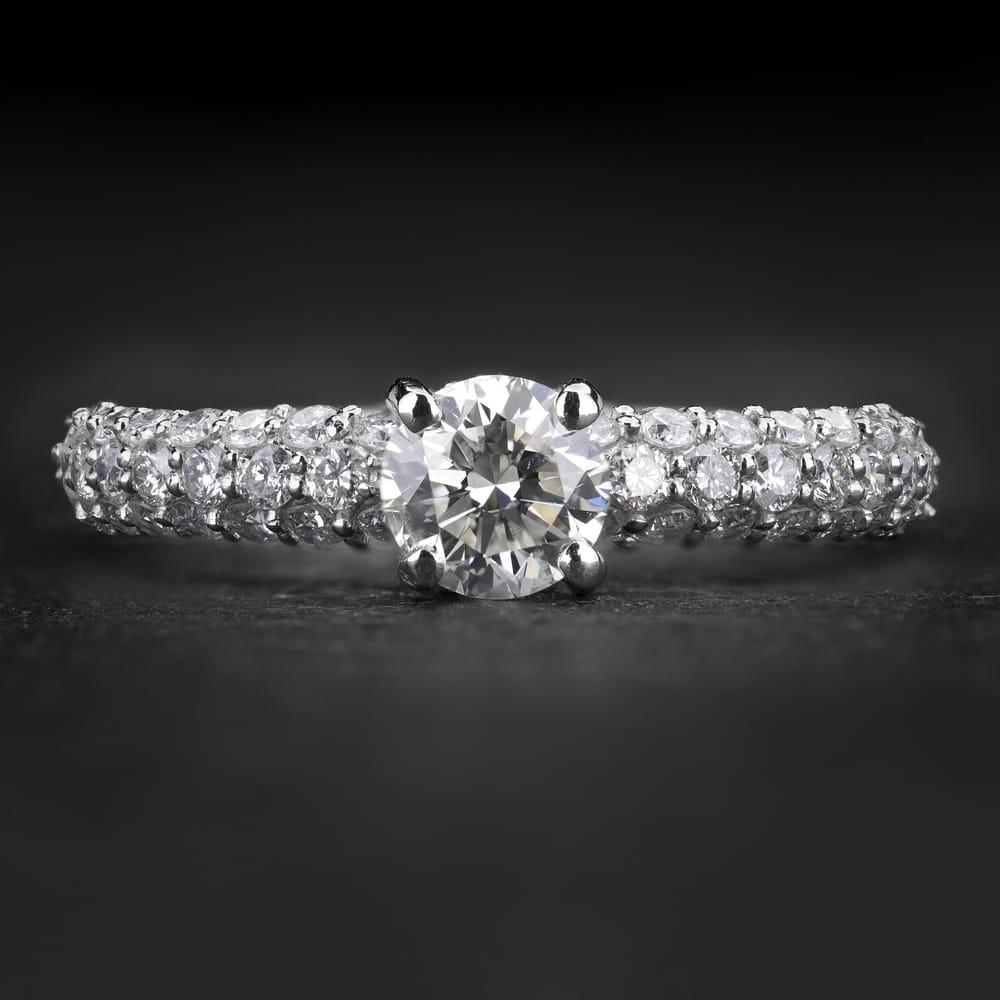 """Sužadėtuvių žiedas su Briliantais """"The Elegance 86"""""""