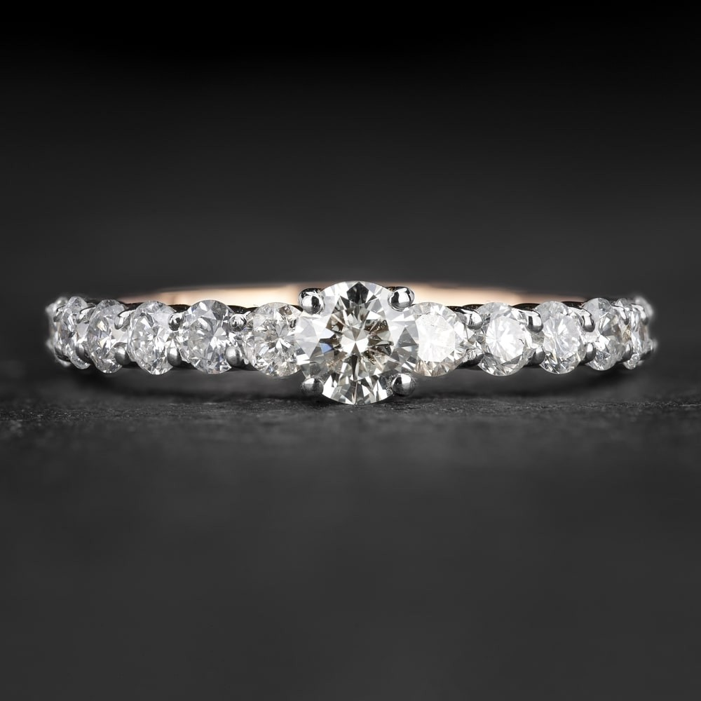 """Sužadėtuvių žiedas su Briliantais """"The Elegance 87"""""""