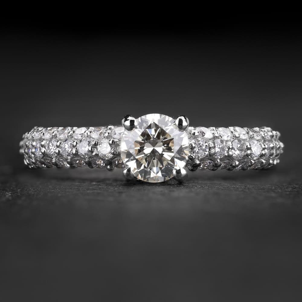 """Sužadėtuvių žiedas su Briliantais """"The Elegance 88"""""""