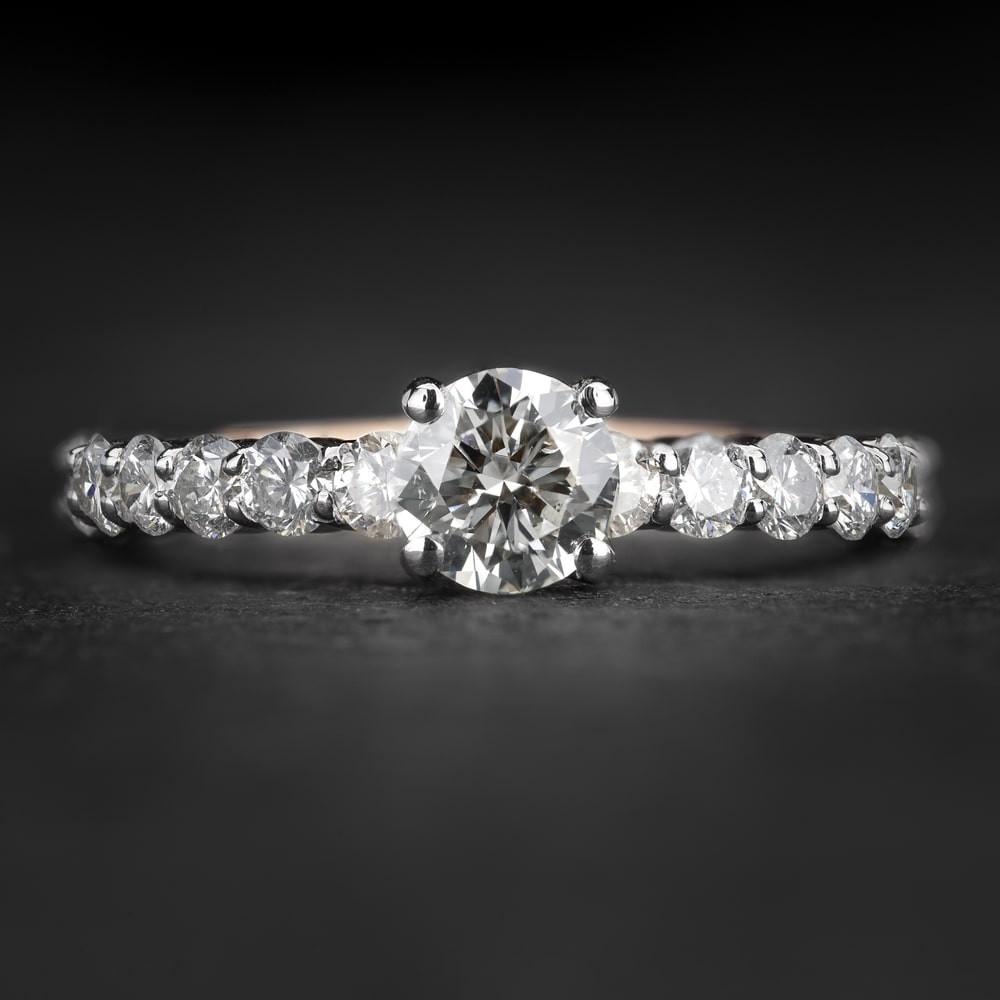 """Sužadėtuvių žiedas su Briliantais """"The Elegance 89"""""""