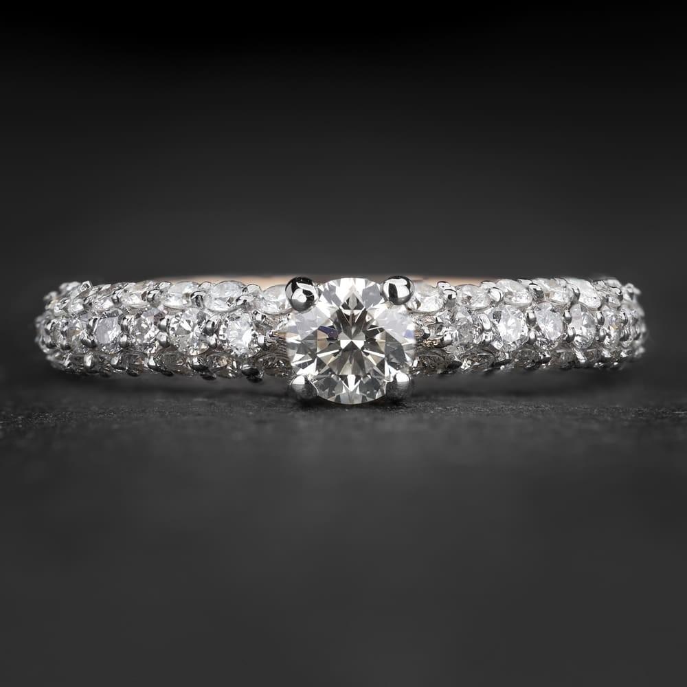 """Sužadėtuvių žiedas su Briliantais """"The Elegance 90"""""""