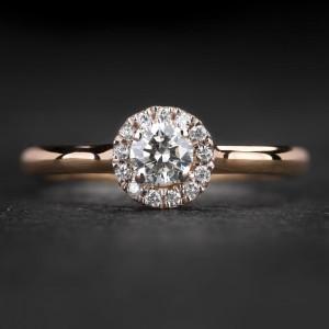 """Sužadėtuvių žiedas su Briliantais """"Shiny Bunch 37"""""""