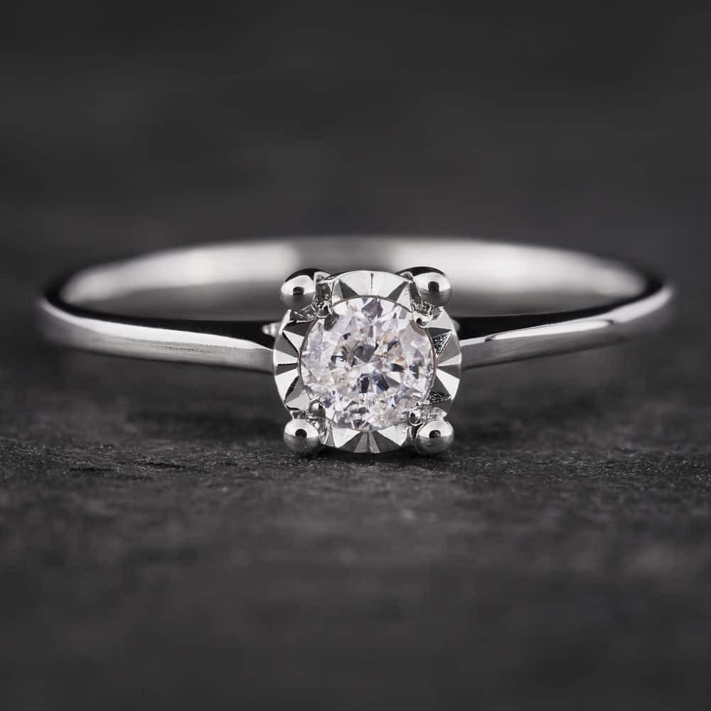 """Sužadėtuvių žiedas su Briliantu """"Nuostabusis II"""""""