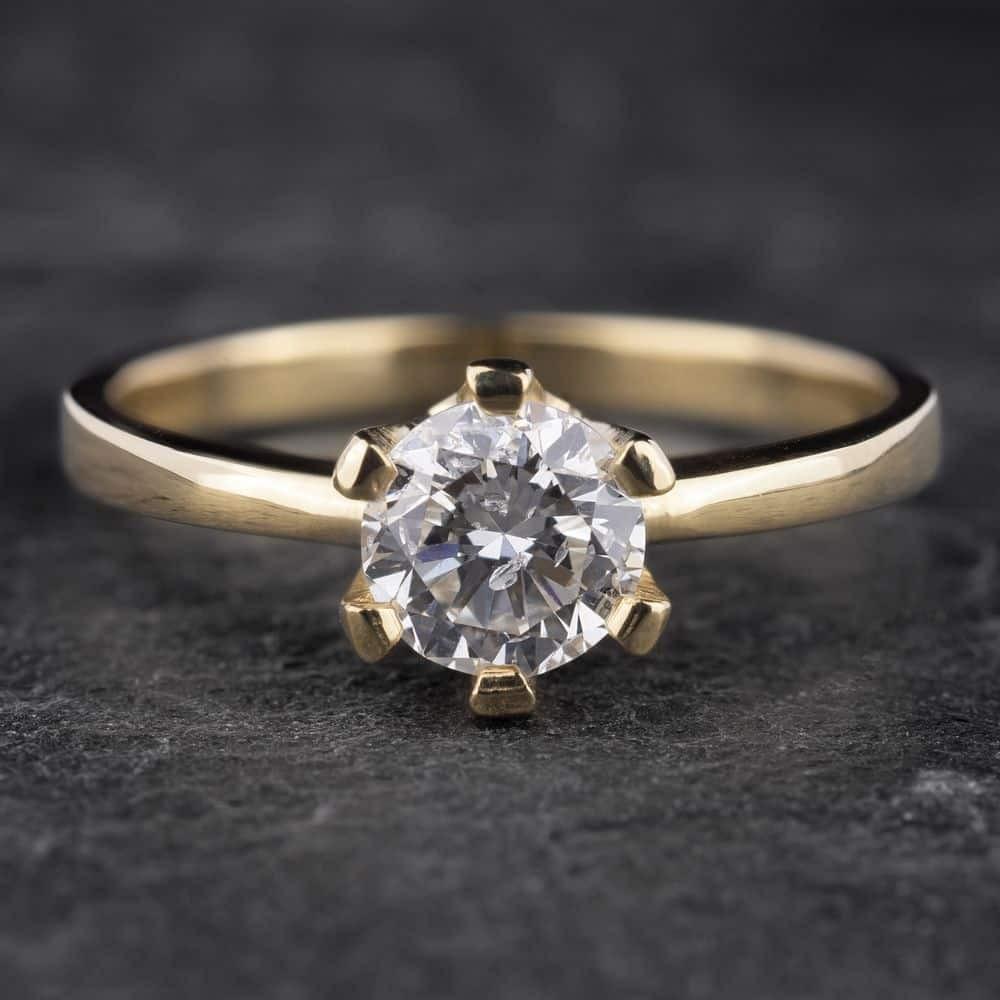 """Auksinis žiedas su Briliantu """"Enchanting"""""""
