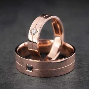 """Vestuviniai žiedai su Briliantais """"Modernūs"""""""