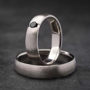"""Vestuviniai žiedai su Briliantu """"Klasika 3"""""""