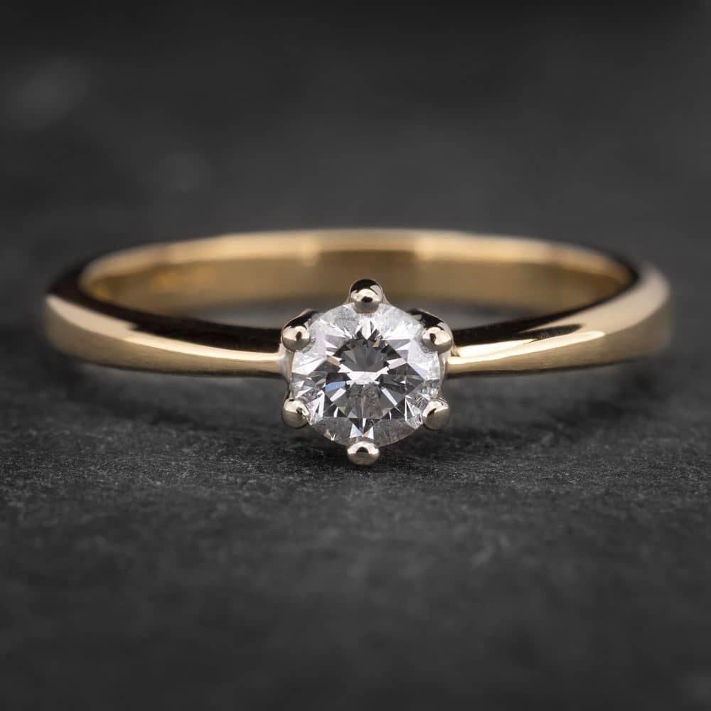 """Auksinis žiedas su Briliantu """"Nuoširdžioji 7"""""""