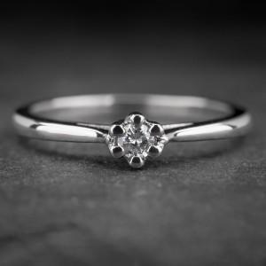 """Auksinis žiedas su Briliantu """"Nuoširdžioji 8"""""""