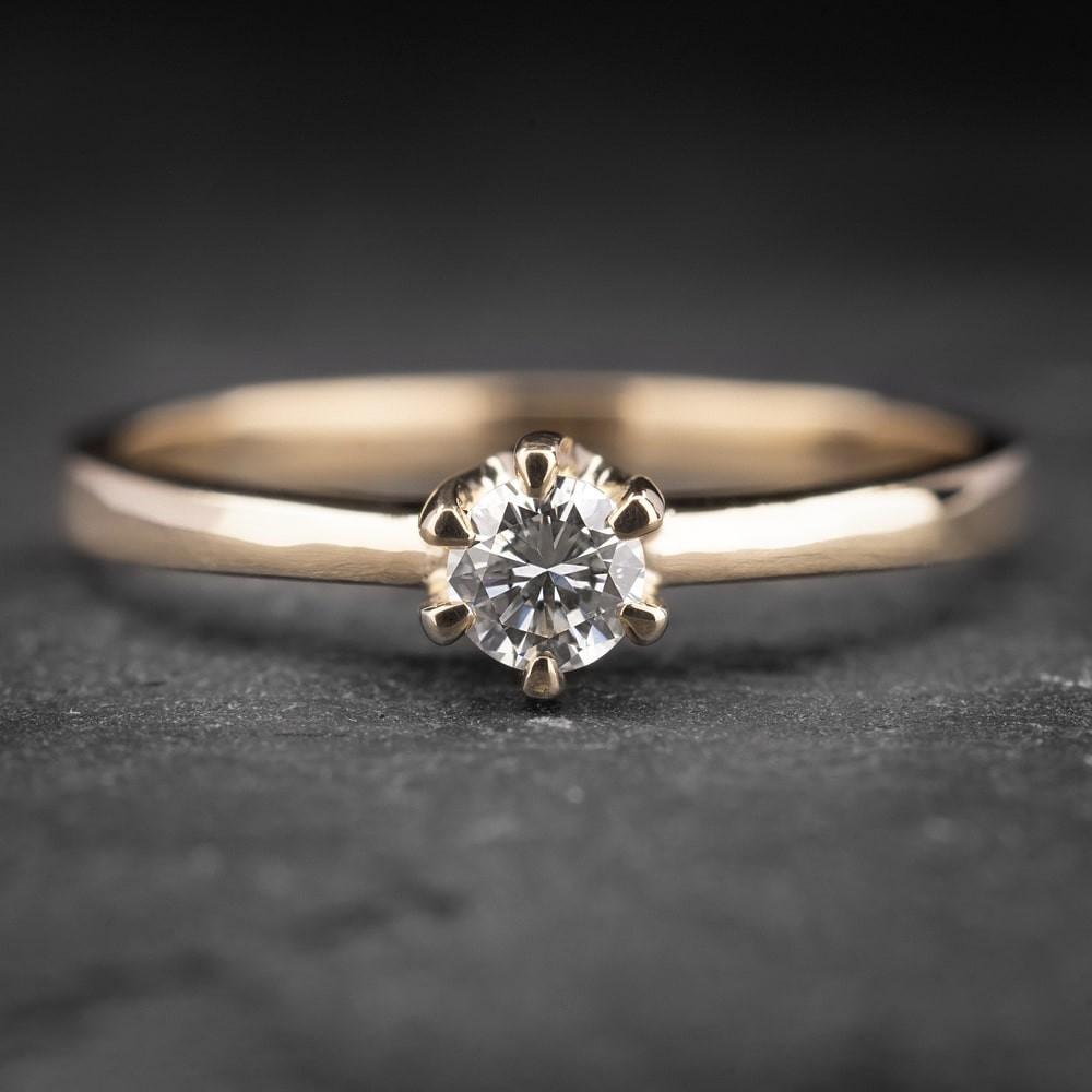 """Auksinis žiedas su Briliantu """"Kunigaikštytė 21"""""""
