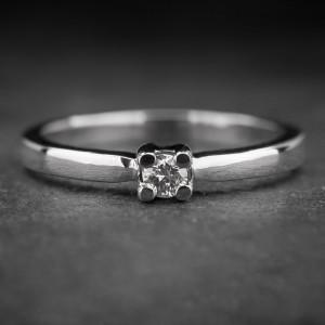 """Auksinis žiedas su Briliantu """"Tvirtybė 21"""""""
