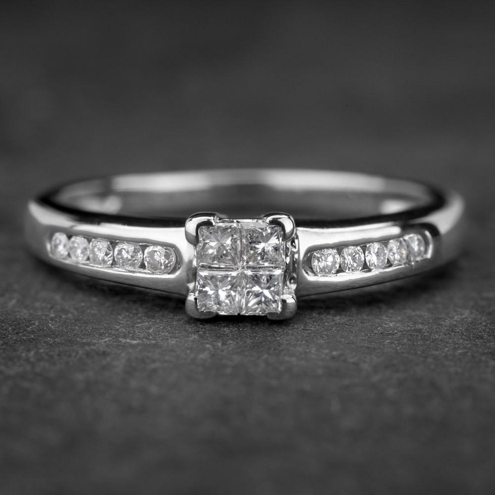 """Auksinis žiedas su Deimantais """"Princesses 4"""""""
