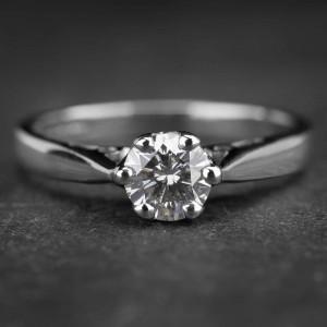 """Auksinis žiedas su Briliantu """"Kunigaikštytė 23"""""""