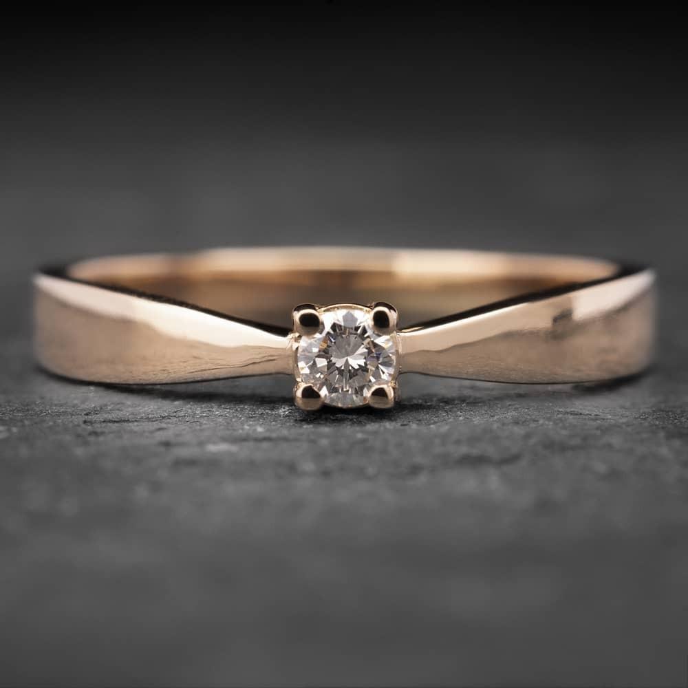 "Auksinis žiedas su Briliantu ""The Elegance 8"""