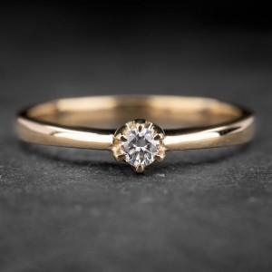 """Auksinis žiedas su Briliantu """"Kunigaikštytė 33"""""""
