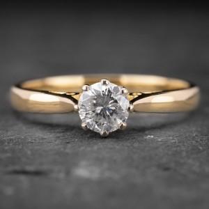 """Auksinis žiedas su Briliantu """"Kunigaikštytė 34"""""""