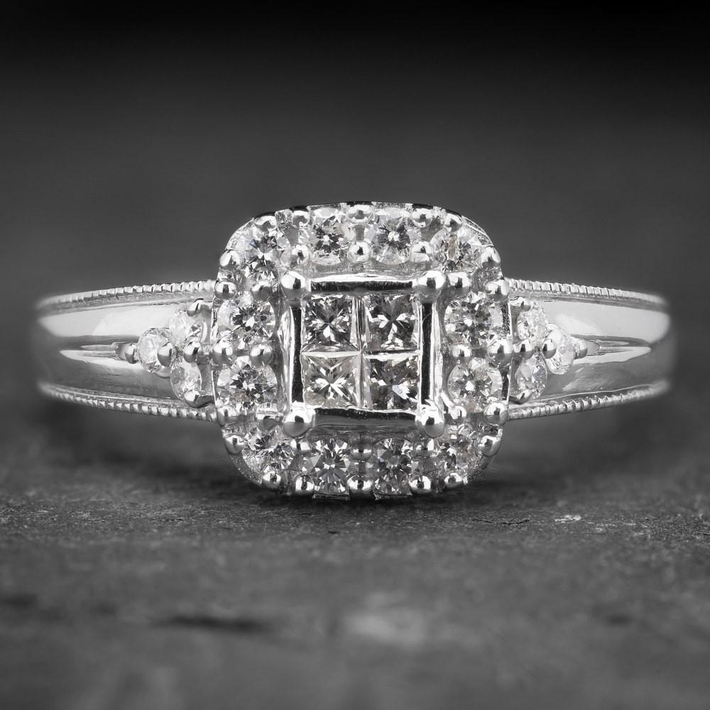 """Auksinis žiedas su deimantais """"Tiara 4"""""""