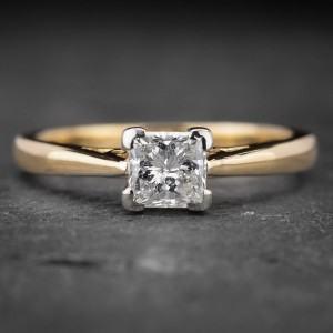 """Auksinis žiedas su Deimantu """"Princess 8"""""""