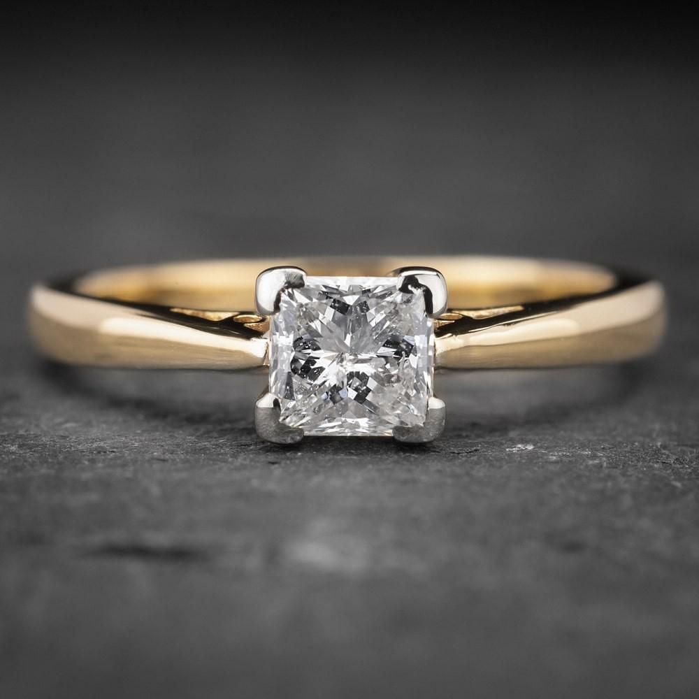 """Auksinis žiedas su Deimantu """"Princess 9"""""""