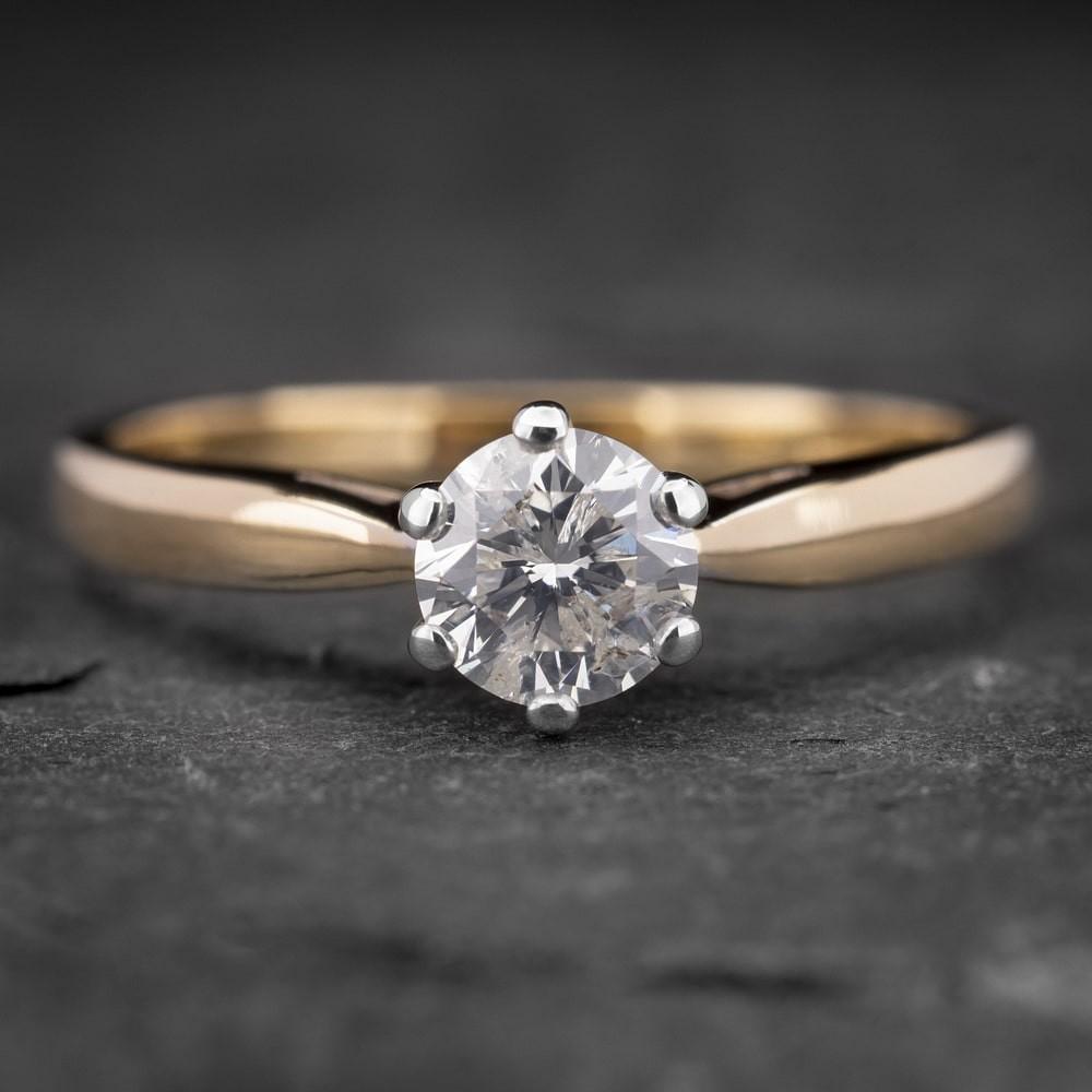 """Auksinis žiedas su Briliantu """"Kunigaikštytė 36"""""""