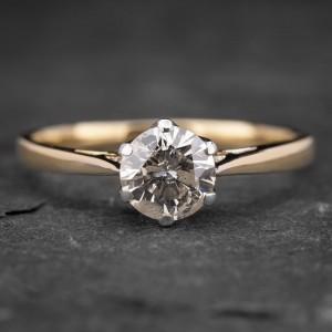 """Auksinis žiedas su Briliantu """"Kunigaikštytė 35"""""""