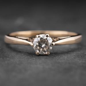 """Auksinis žiedas su Briliantu """"Kunigaikštytė 39"""""""