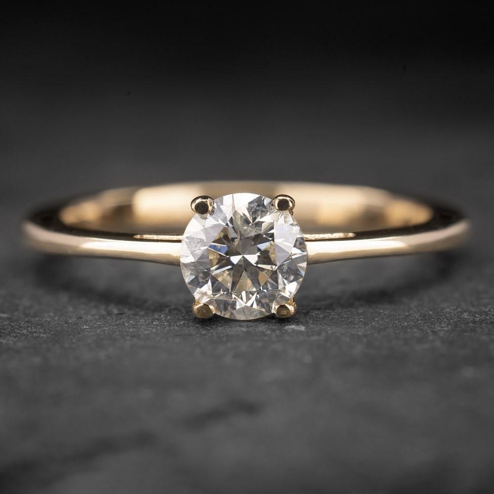 """Auksinis žiedas su Briliantu """"The Goddess 10"""""""