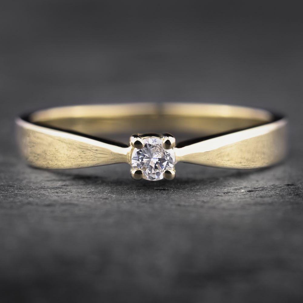 "Auksinis žiedas su Briliantu ""The Elegance 9"""
