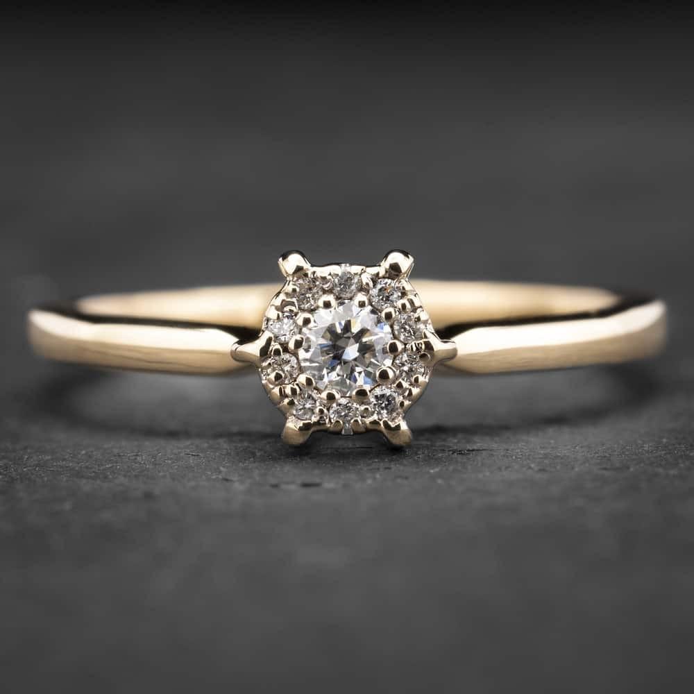 """Sužadėtuvių žiedas su Briliantais """"Shiny Bunch 6"""""""