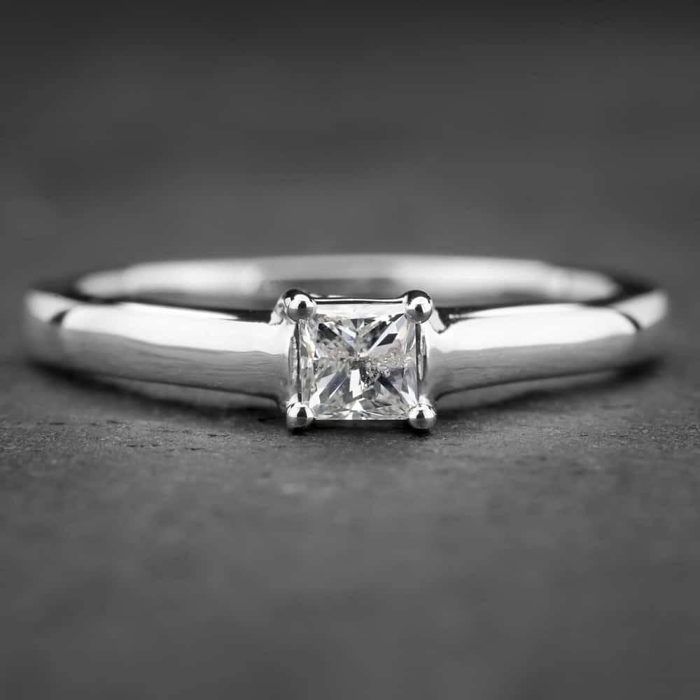 """Auksinis žiedas su Deimantu """"Princess 10"""""""