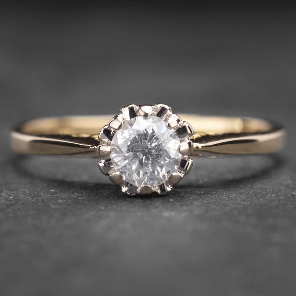 """Auksinis žiedas su Briliantu """"Kunigaikštytė 44"""""""