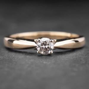 """Auksinis žiedas su Briliantu """"The Diamond 36"""""""
