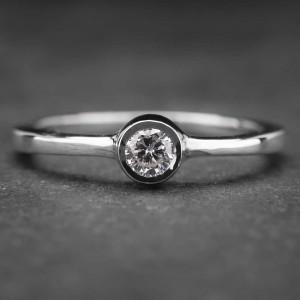 "Auksinis žiedas su Briliantu ""Sweetness 6"""