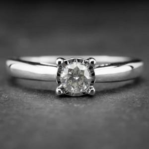 """Auksinis žiedas su Briliantu """"Nuostabusis 6"""""""