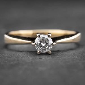 """Auksinis žiedas su Briliantu """"Nuoširdžioji 16"""""""
