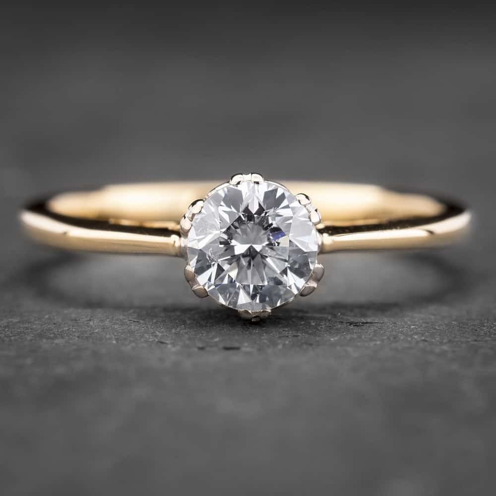 """Auksinis žiedas su Briliantu """"Kunigaikštytė 46"""""""
