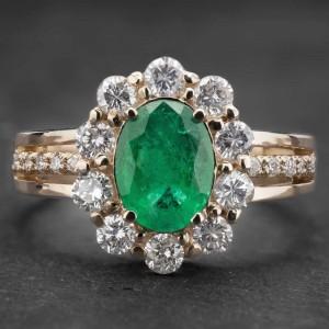 """Auksinis žiedas su Bangakmeniais """"Aristokratas V"""""""