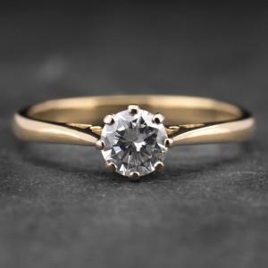 """Auksinis žiedas su Briliantu """"Kunigaikštytė 53"""""""