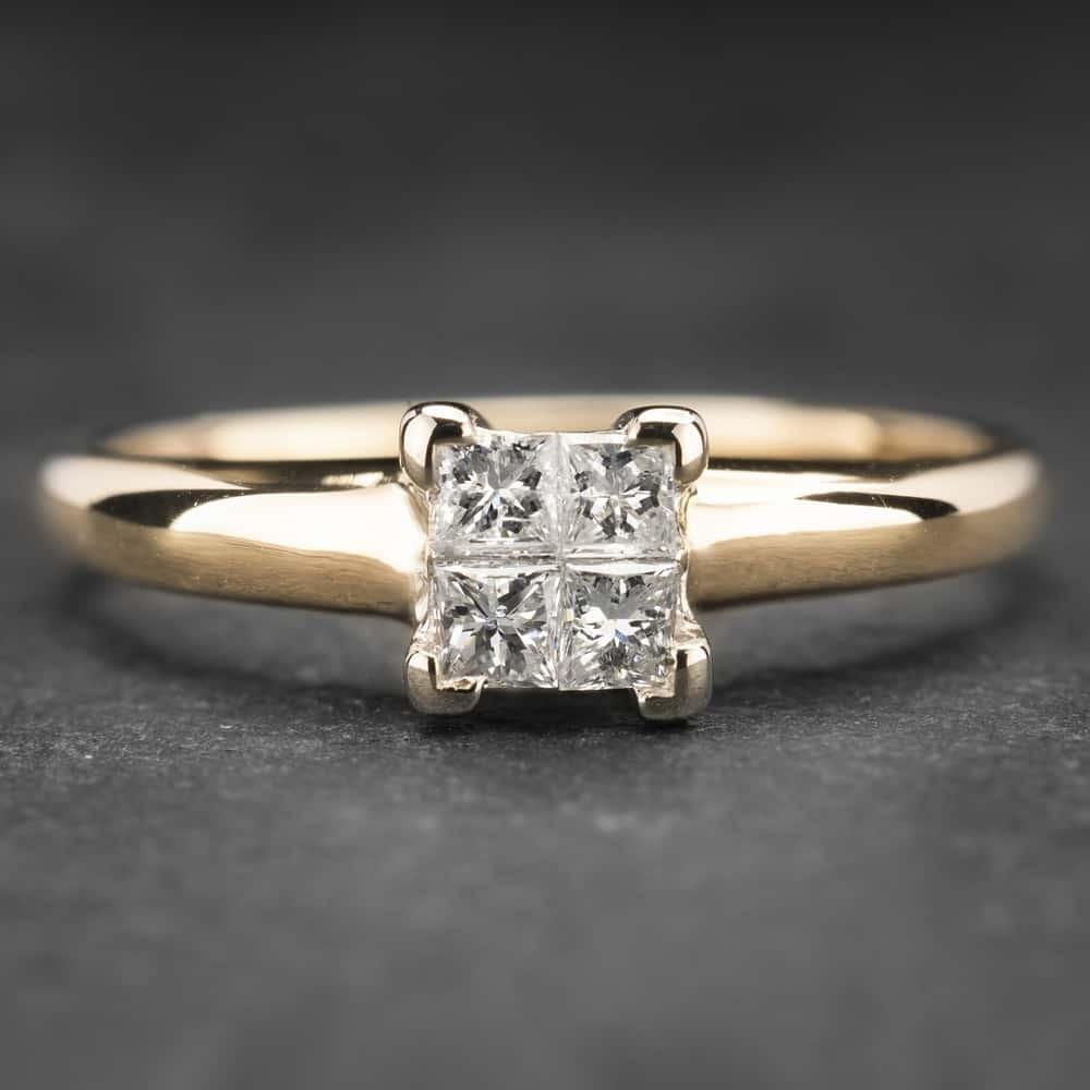 """Auksinis žiedas su Deimantais """"Princesses 18"""""""