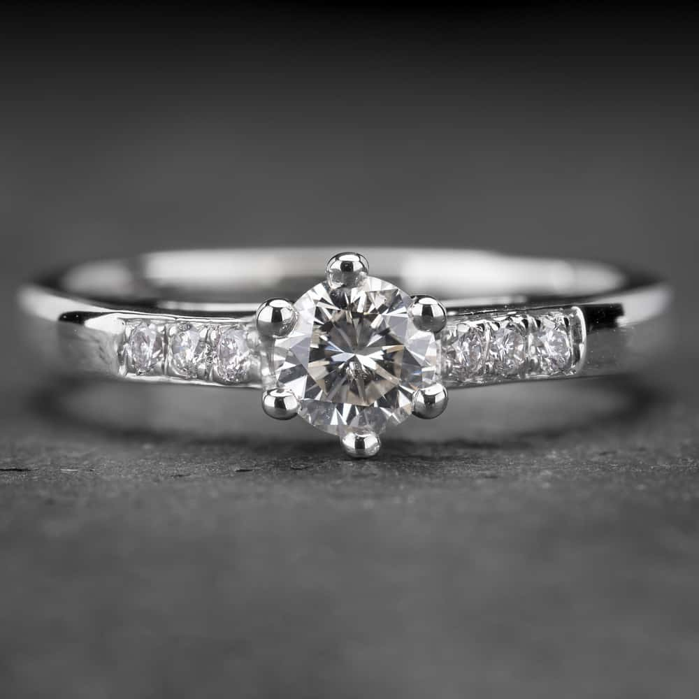 """Auksinis žiedas su Briliantais """"Tiara 9"""""""