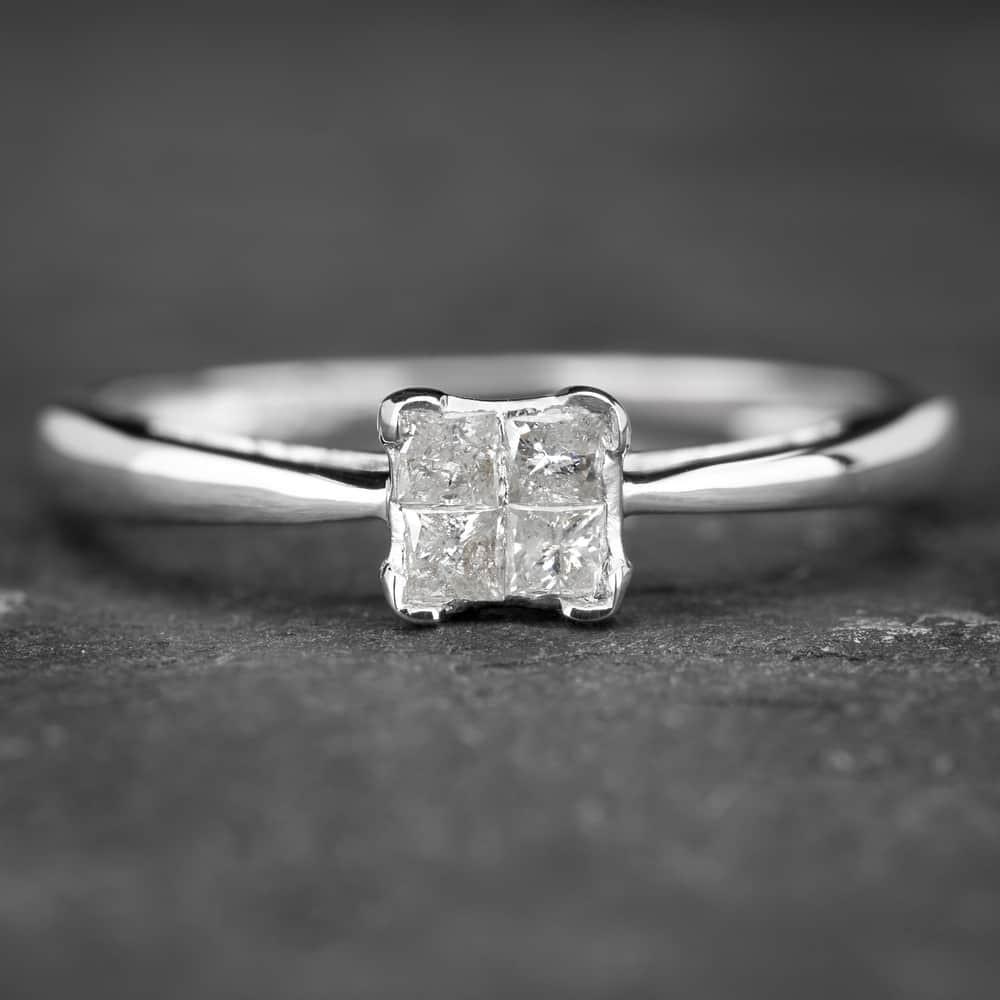 """Auksinis žiedas su Deimantu """"Princesses 19"""""""