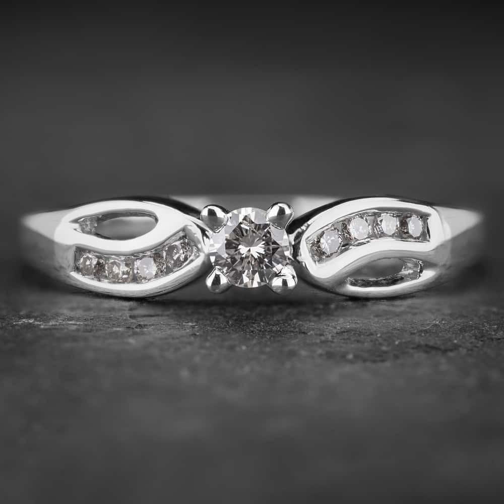 "Auksinis žiedas su Briliantu ""Fortune 2"""