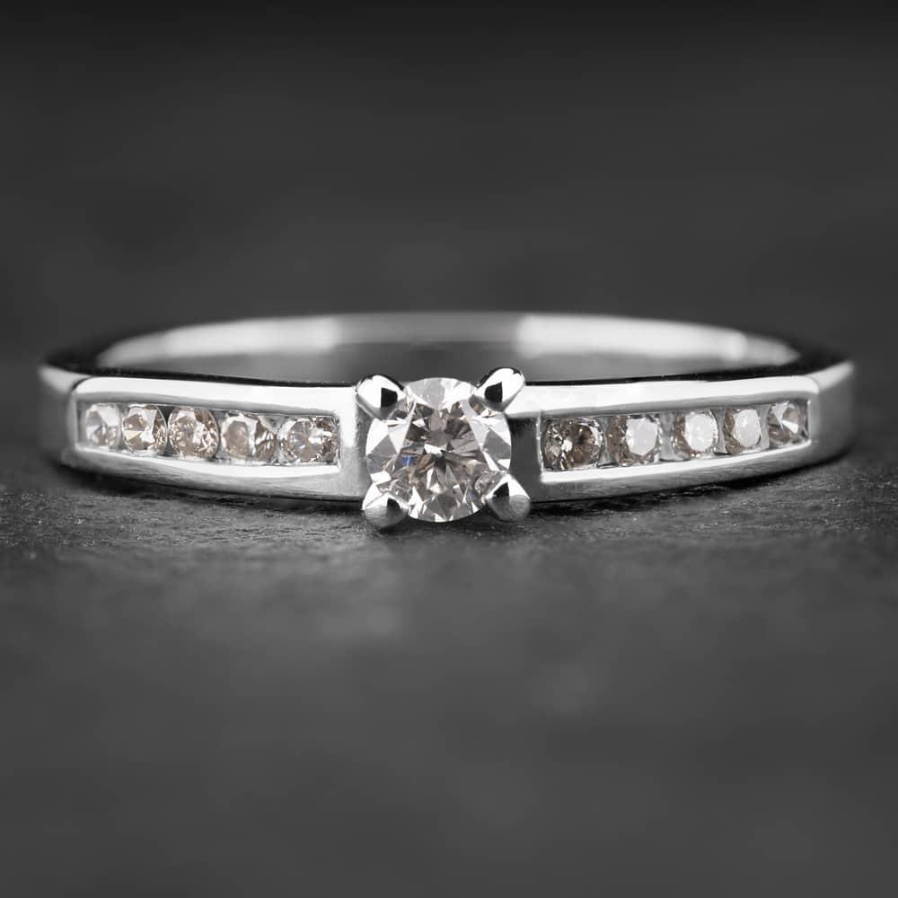 """Sužadėtuvių žiedas su Briliantais """"The Elegance 14"""""""