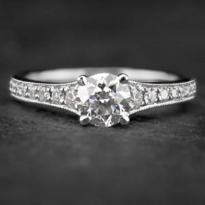 """Balto aukso žiedas su Briliantais """"Tiara 16"""""""